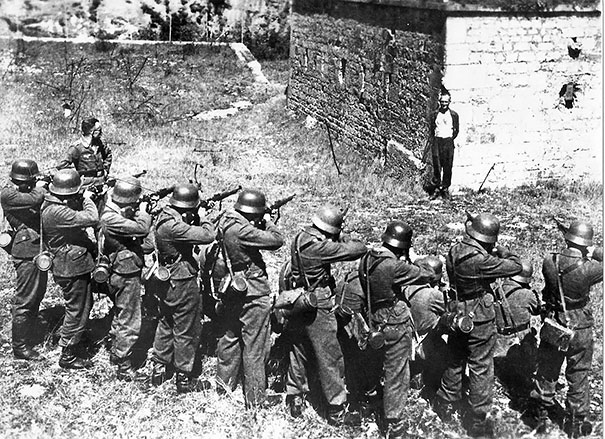 Georges Blind, A Member Of The French Resistance, Smiling At A German Firing Squad, 1944