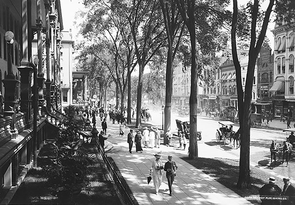 Broadway At The United States Hotel Saratoga Springs, N.y. Ca 1900-1915