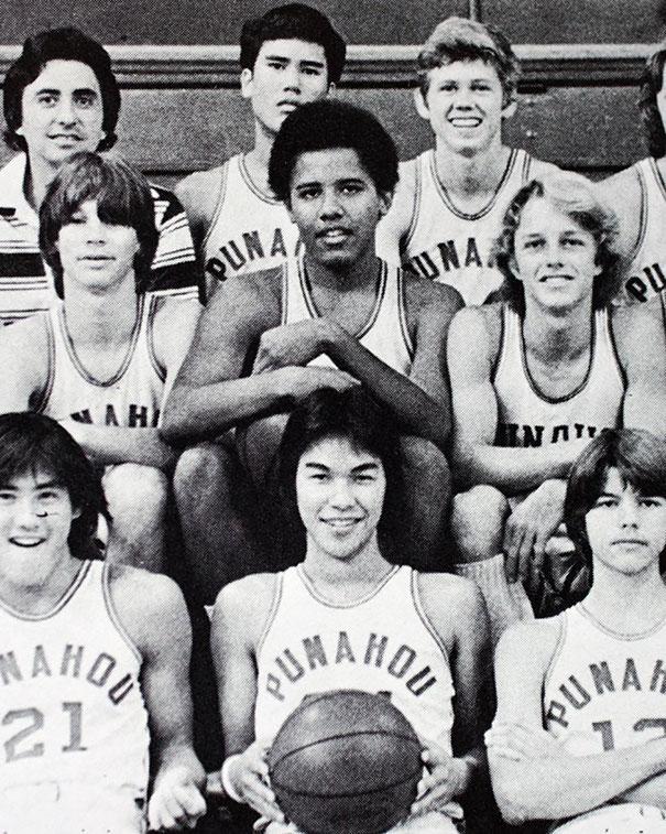 Barack Obama With His Junior Varsity Basketball Team,