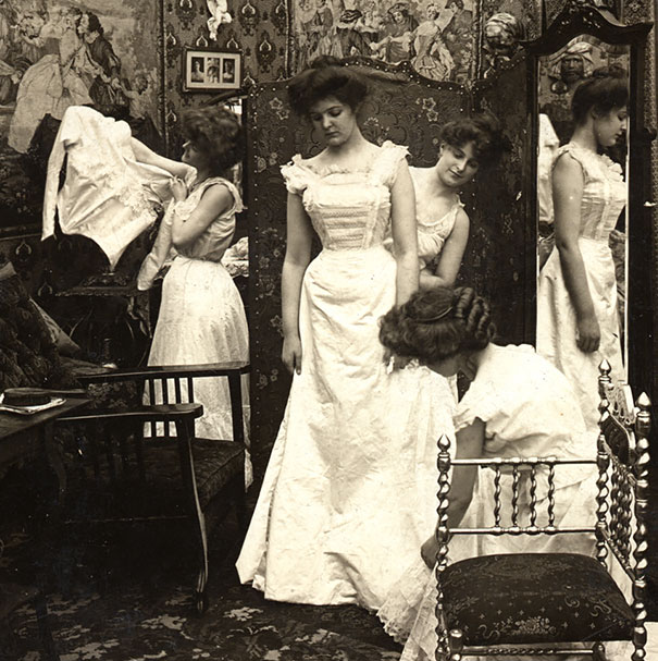 Dressing The Bride, 1890s