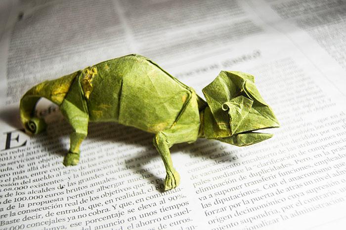 Origami Chameleon