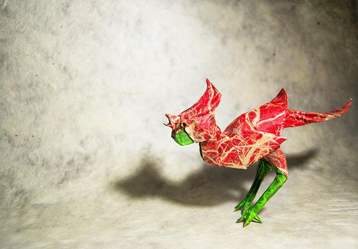 Origami Cardinal