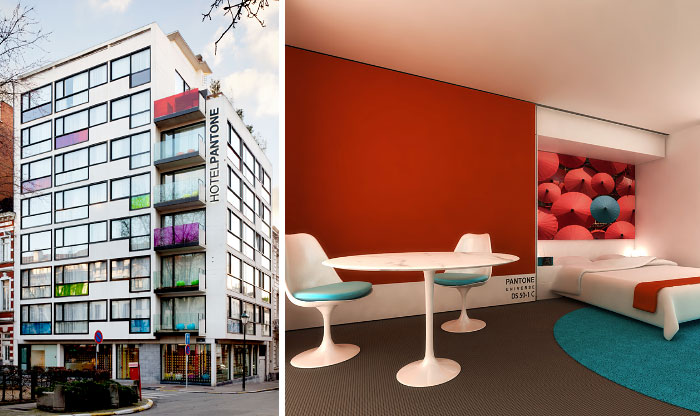 There's A Hotel In Brussels That Lets You Sleep In Your Favorite Pantone Colors