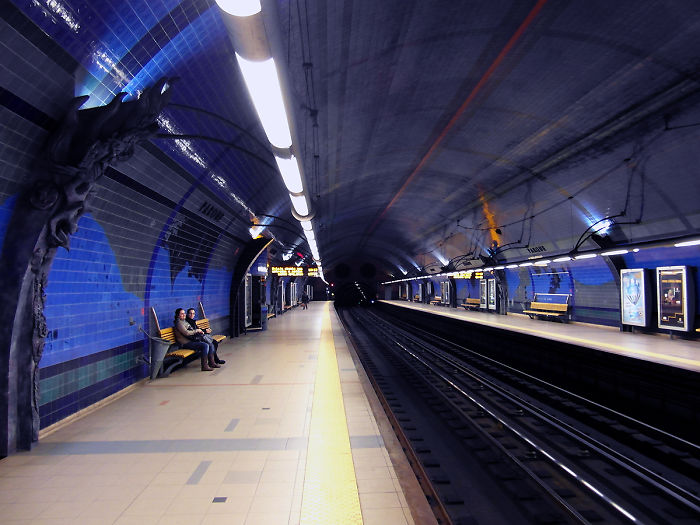 Parque Metro Station, Lisbon, Portugal