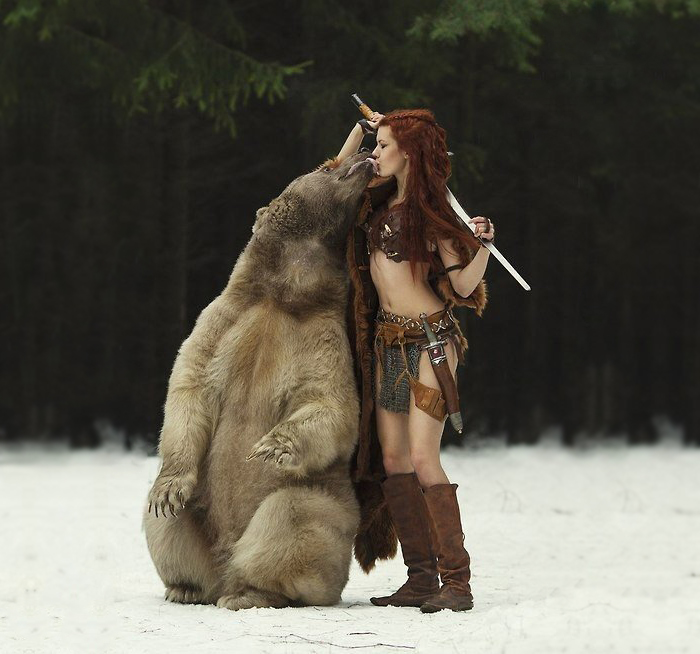 Russian Photographer Captures Fairy-Tale Scenes With REAL Animals