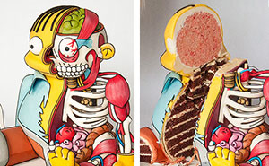 Ralph From The Simpsons Turned Into A Creepy Cake