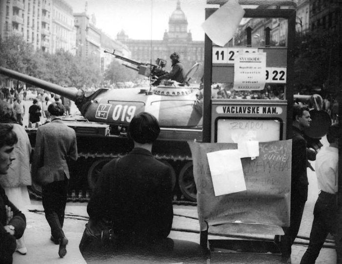 Russian Occupation, August 21st 1968; Venceslas Square, Prague, Czech Republic