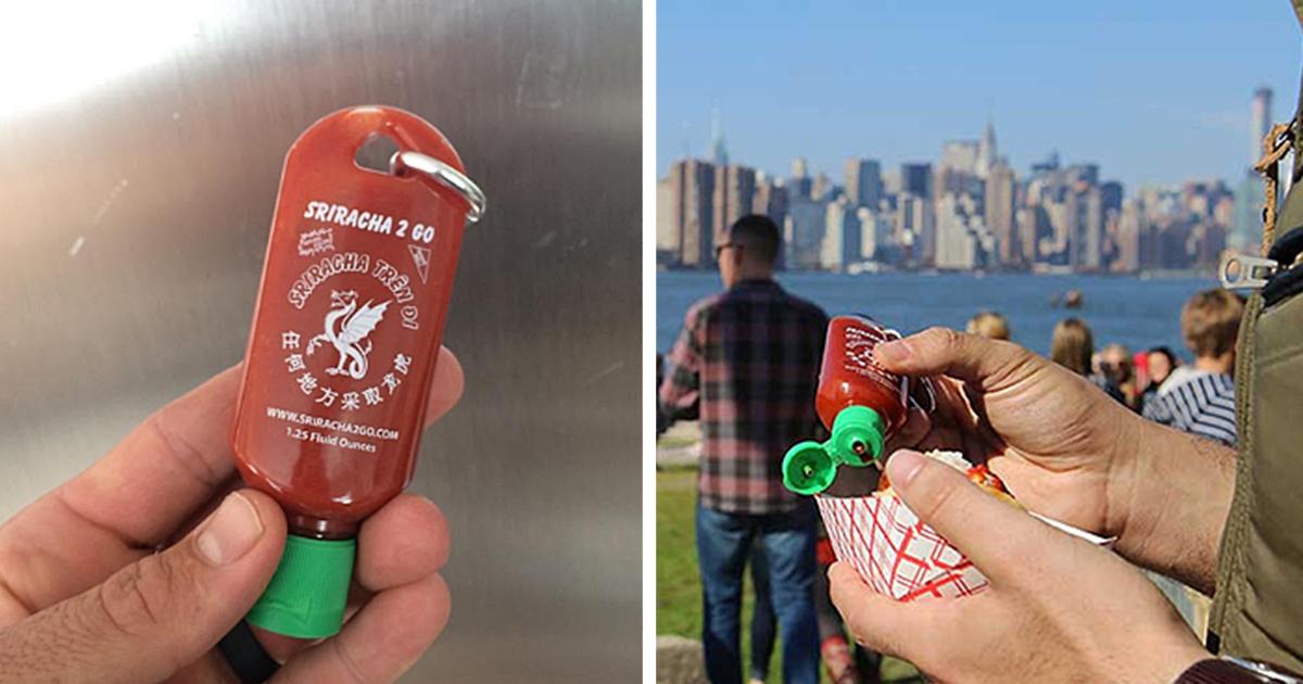 Sriracha2go: Your Hot Sauce On A Keychain