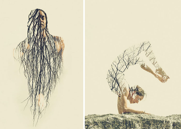 With The Help Of Yoga Instructors, I Create Surreal Photos That Blend Human Body With Plant Forms