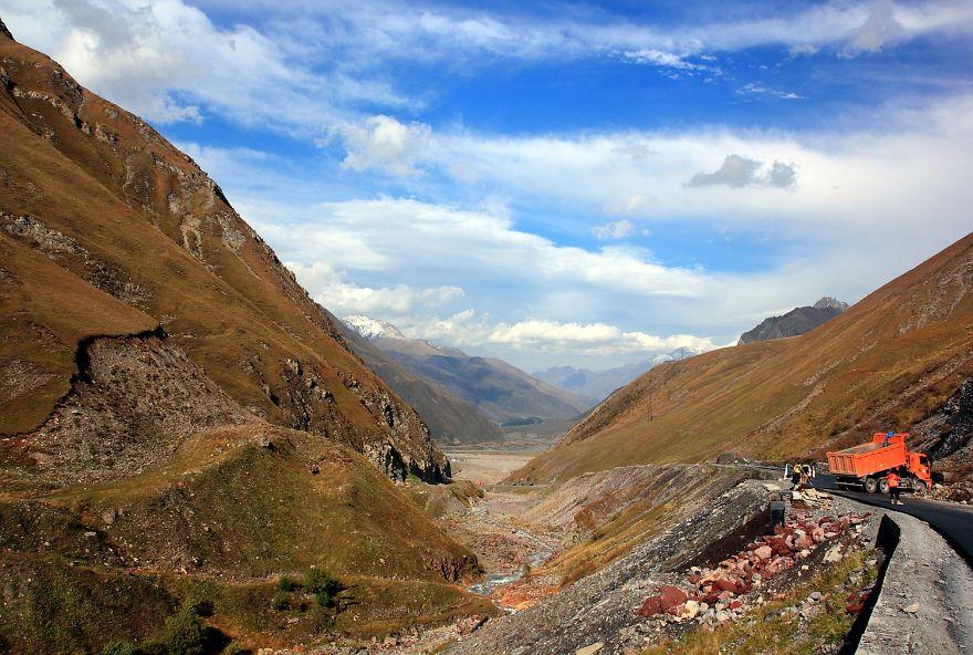 Military Road To Kazbegi Georgia