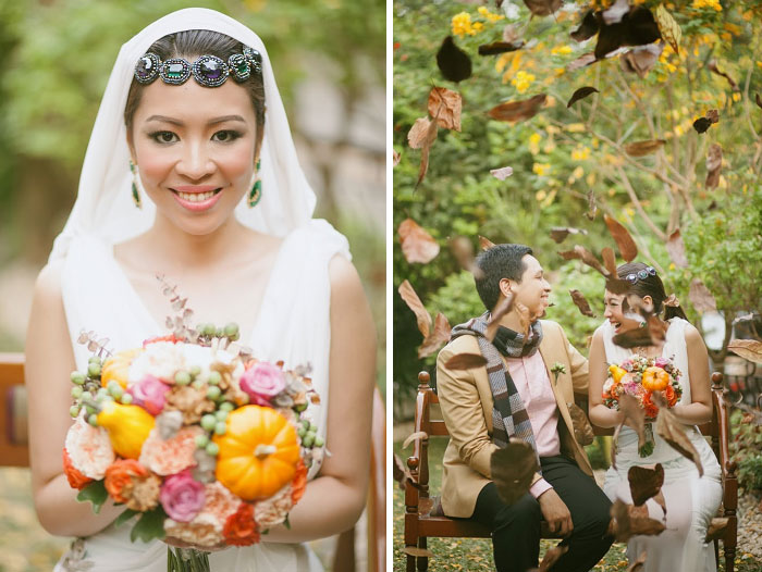 Thanksgiving-Themed Wedding From Rebellious Brides