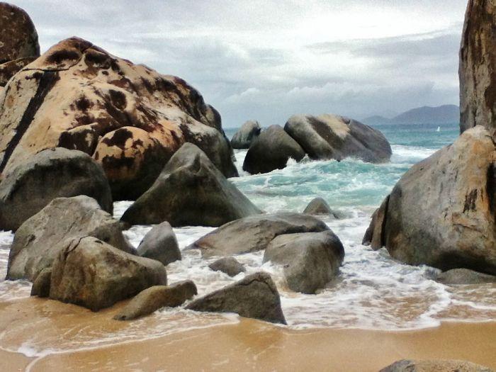 Huge Granite Boulders At The Baths In Virgin Gorda, British Virgin Islands