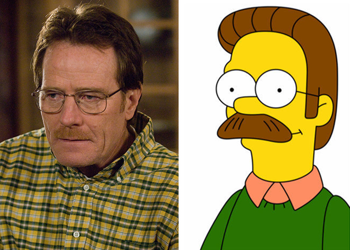 Walter White Looks Like Ned Flanders