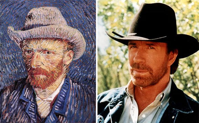Van Gogh Looks Like Chuck Norris