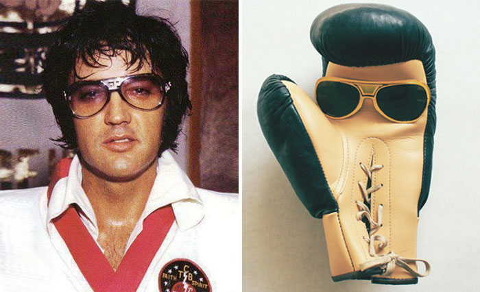 Boxing Glove looks like Elvis Presley
