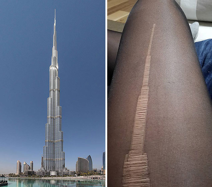 These Ripped Tights Look Like The Burj Khalifa
