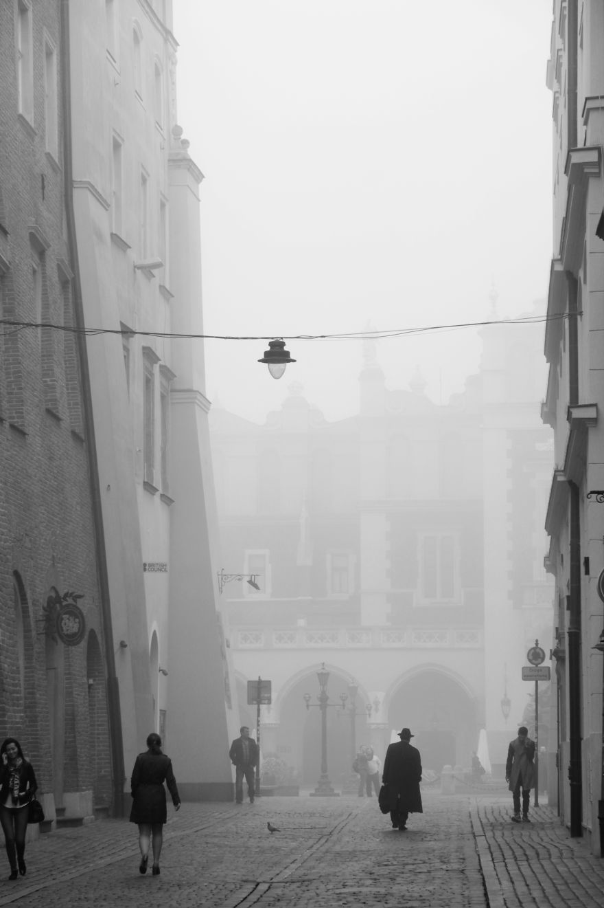 A Misty Morning In Krakow, Poland.