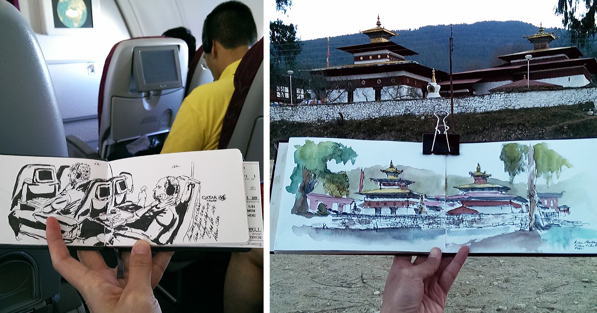 I Sketch On Every Single Bus, Train And Airplane I Board