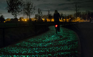 Solar-Powered Glowing Bicycle Path In Netherlands Inspired By Van Gogh's Starry Night