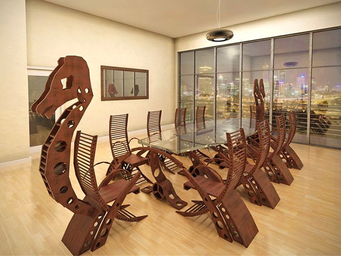 This Viking Conference Table Will  Turn Your Meeting Into A Viking Raiding Party