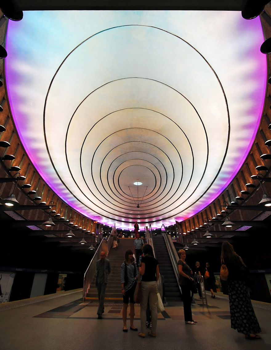Metro Station Plac Wilsona, Warsaw, Poland