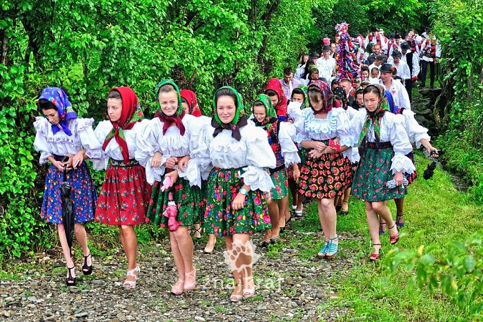 A Part Of Wedding Celebration In Sat Sugatag In Region Of Maramures.
