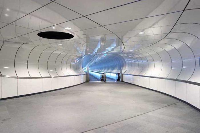 Metro Station Wilhelminaplein (wilhelmina Square), Rotterdam, The Netherlands