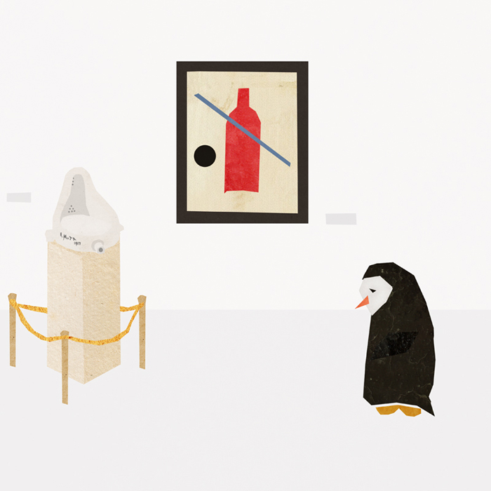 The Story Of A Sad Penguin And His Friend - A Bottle Of Wine