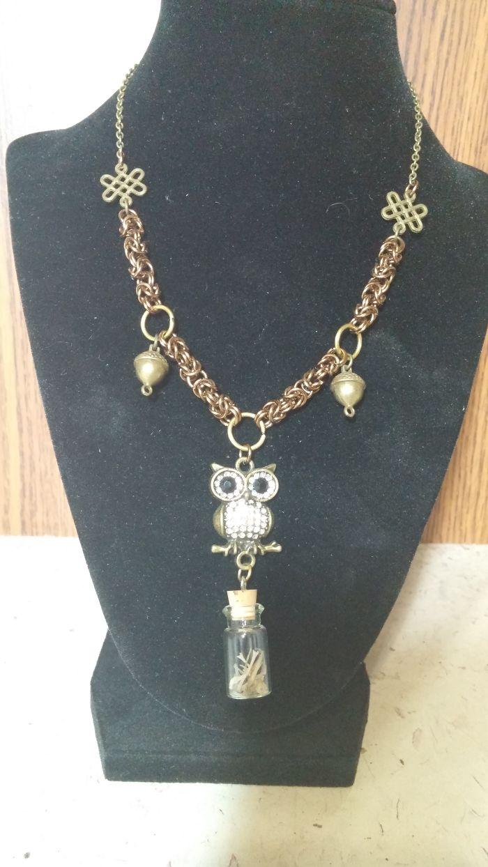 Owl Reliquary Necklaces