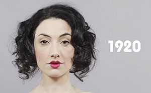 See 100 Years Of Makeup And Hair Styles In One Minute