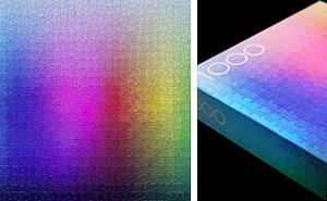 1000-Piece CMYK Color Gamut Jigsaw Puzzle By Designer Clemens Habicht