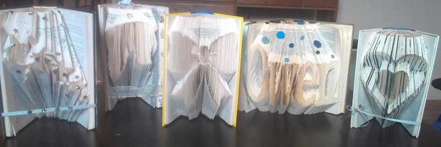 Artwork Done By Me With Some Hard Cover Books. London < Ont
