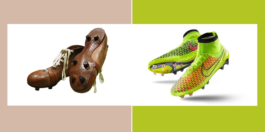 Soccer Shoes Before And Now