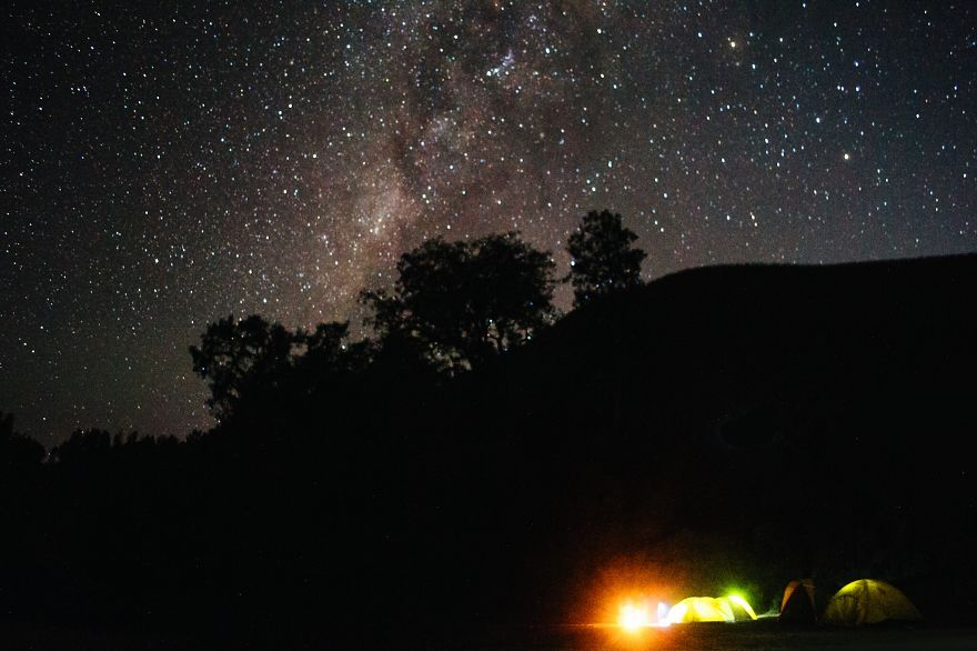 Camping Under The Milky Way (ranu Kumbolo, Indonesia)