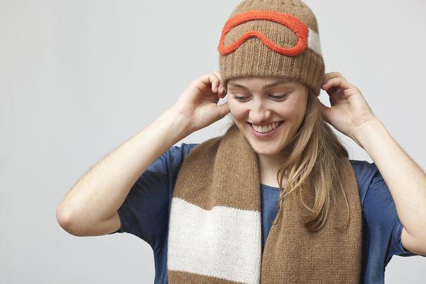 Ski Goggles Hat