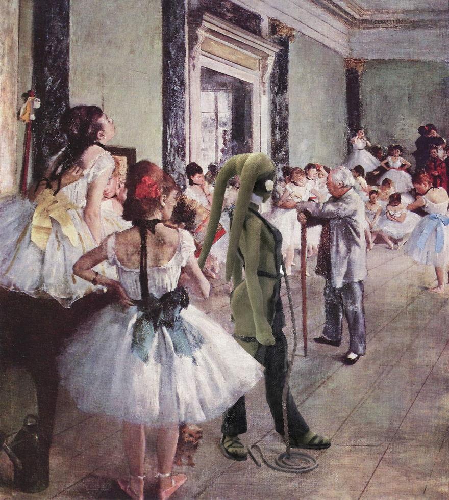 History of watercolor art - La Classe De Danse Avec Oola