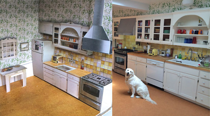 A Real House Turned Into A Pop-up Paper Doll House