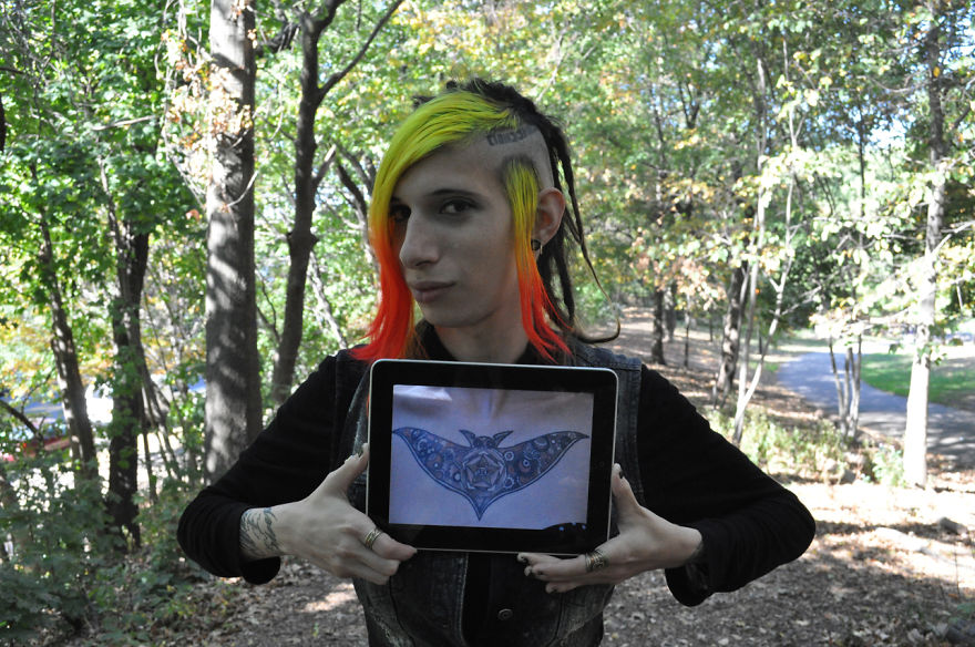 Using iPad As An X-Ray To Reveal Tattoos Under Clothes