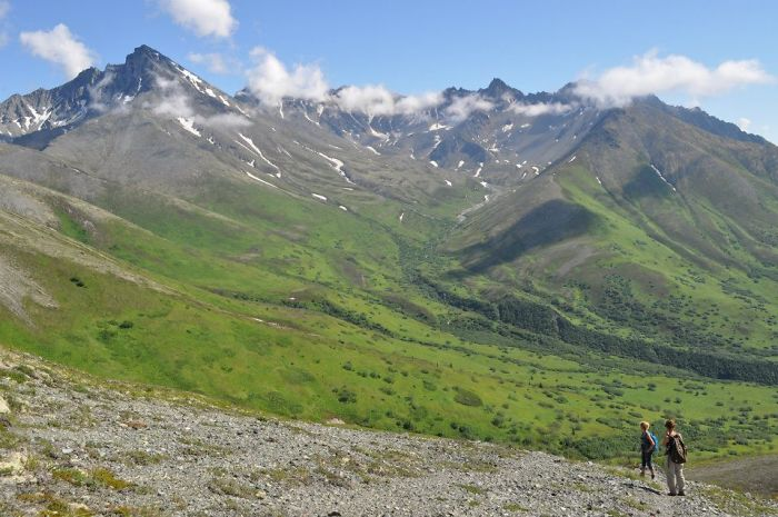 Palmer Hiking Lazy Mountain To Matanuska Peak Loop, Alaska
