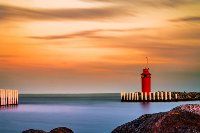 Lighthouse In Hov, Denmark - Photo By Calin Strajescu
