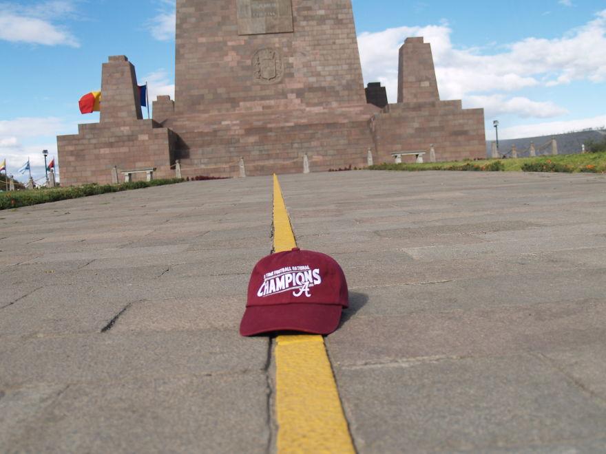 Alabama Crimson Tide Hat On The Equator