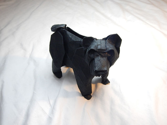 Origami Black Bear