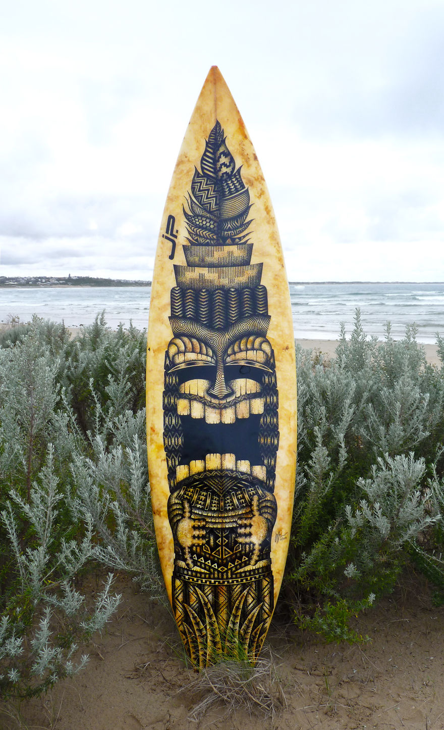 I Give Old Retired Surfboards A New Life As Pieces Of Art