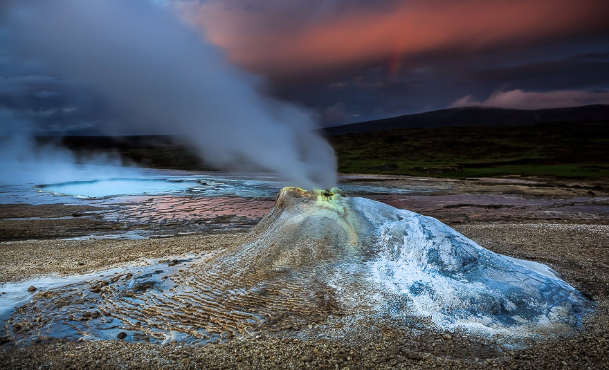 Photographs Of Highland Geysers In Iceland