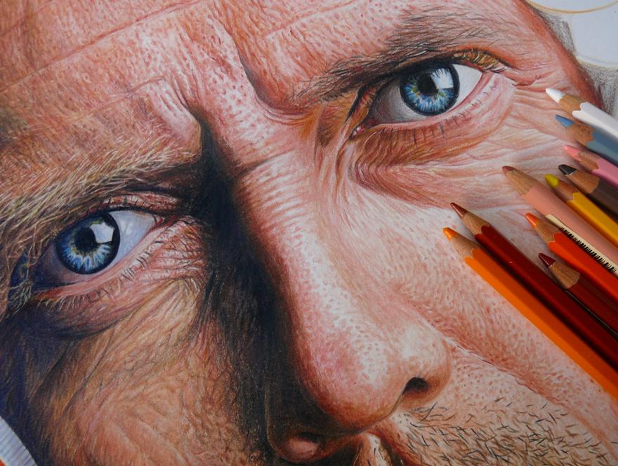 Hyper-Realistic Pencil Drawings Of Celebrities