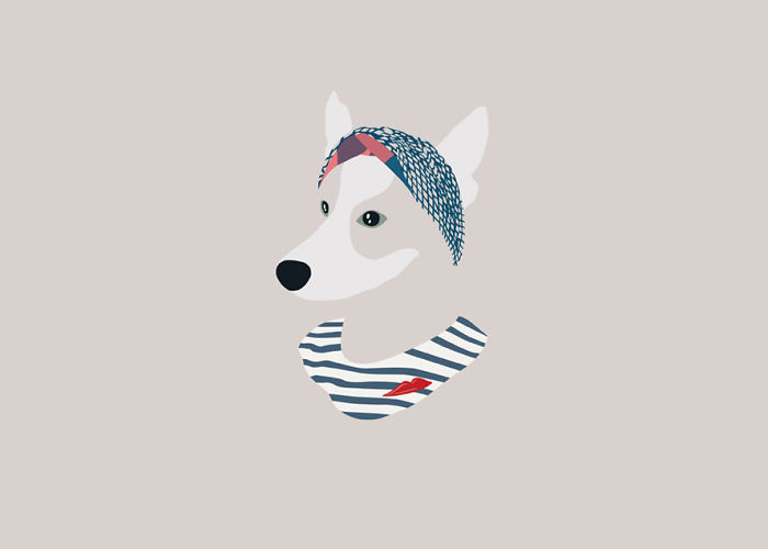 I Illustrate Dogs And Make Them Look Fashionable