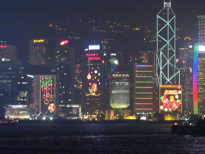 Christmas Light In Hong Kong
