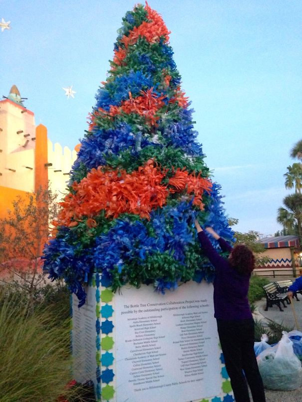 Recycled Plastic 38 School Collaborative Tree, Busch Gardens Tampa