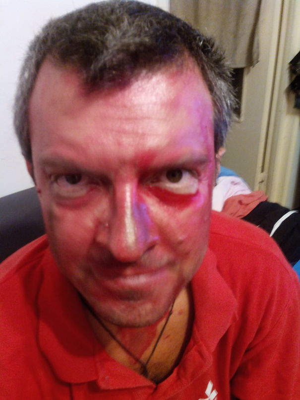 No, I Had No Accident, Just My Daughter's Makeup