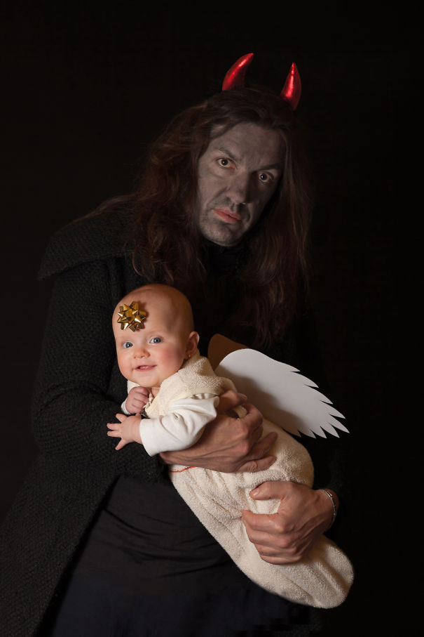 Angel Baby And Devil Dad :)